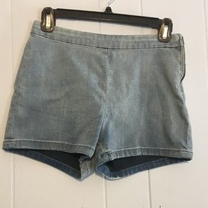Free People High Waist Denim Shorts